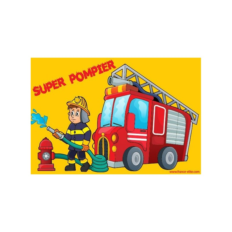 Set de table pompiers enfant - Set de table enfant ...