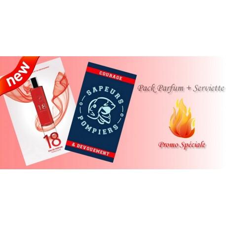 Pack Parfum 18 + Serviette de bain Sapeurs Pompiers