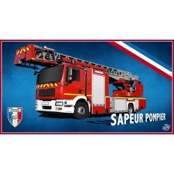Drap de bain camion pompier