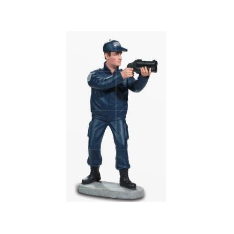 STATUETTE policier avec flashball