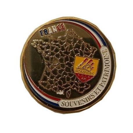 Médaillon Sapeur Pompier SDIS 66