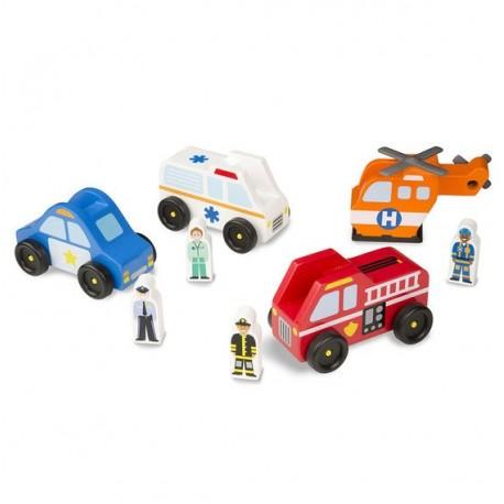 Collection de véhicules d'urgence