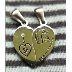 Double pendentif coeur SP
