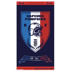 DRAP DE BAIN SAPEURS-POMPIERS SOLDATS DU FEU