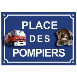 PLAQUE PLACE DES POMPIERS