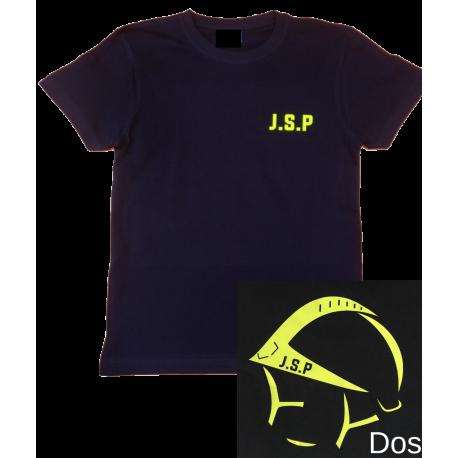 T-SHIRT LOGO JSP ET CASQUE F1 FLUO JAUNE PERSONNALISABLE