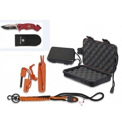 SET COUTEAU FIRE DEPARTEMENT ROUGE