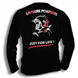 T-SHIRT POMPIER JUST FOR LIFE ML
