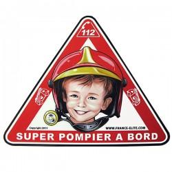 Autocollant SUPER POMPIER à bord