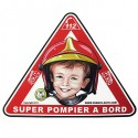 AUTOCOLLANT SUPER POMPIER A BORD