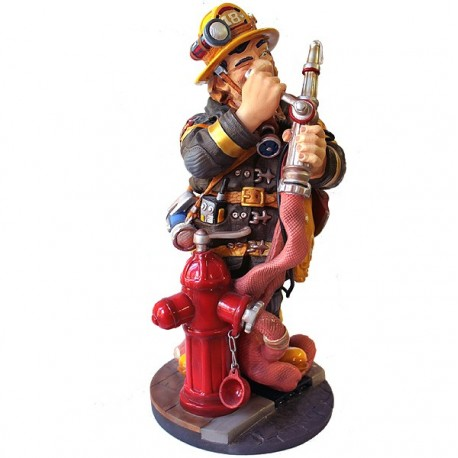 STATUETTE POMPIER FIRE FIGHTER