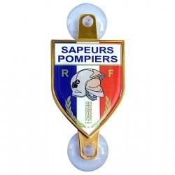 PLAQUE AUTO SAPEURS-POMPIERS ECU