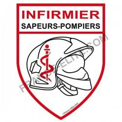 AUTOCOLLANT INFIRMIER SAPEURS-POMPIERS
