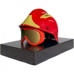 CASQUE F2 ROUGE METAL