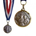 MEDAILLE SAPEURS POMPIERS + RUBAN