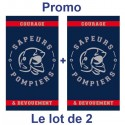 Lot de 2 SERVIETTES de TOILETTE POMPIER