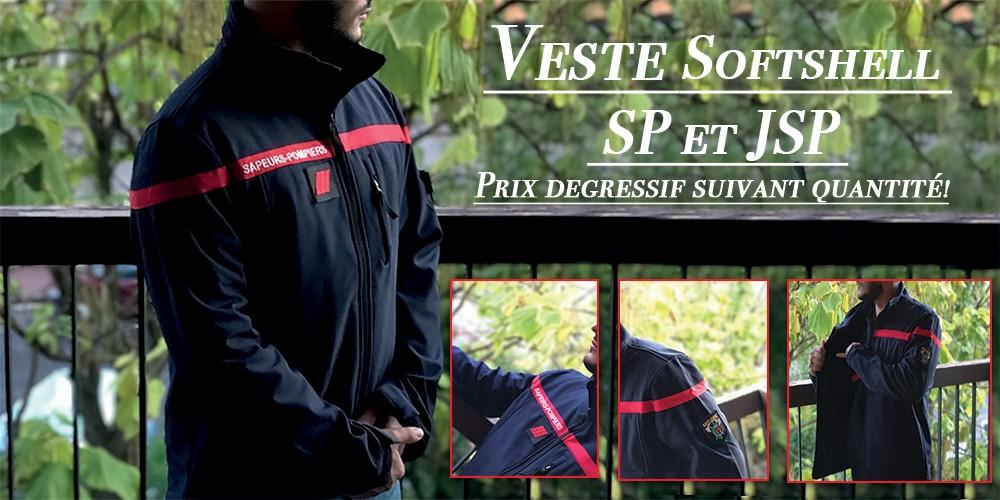 veste soft-shell sapeurs pompiers f1