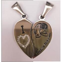 Double pendentif coeur